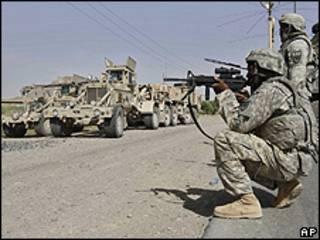 Soldado americano em Kandahar