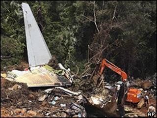 الطائرة التي تحطمت في مانجالور