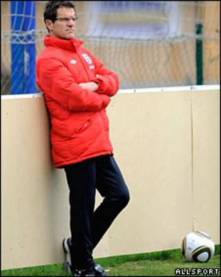 Тренер сборной Англии по футболу Фабио Капелло