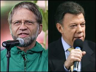 Antanas Mockus e Juan Manuel Santos