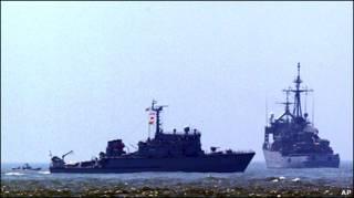 Южнокорейские военные корабли