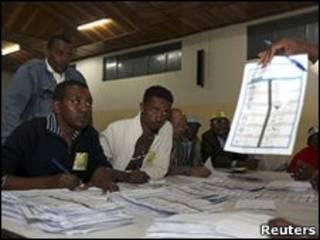 مركز انتخابي في أديس أبابا