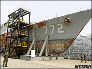 Cheonan, barco surcoreano hundido