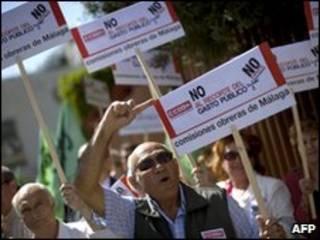 إسبان يحتجون على إجراءات التقشف الحكومية