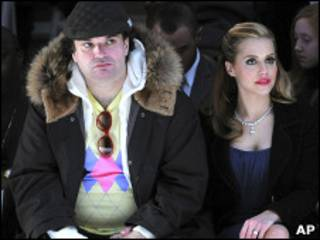 Simon Monjack e Brittany Murphy em 2008