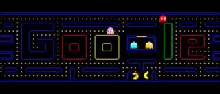 गूगल के मुख्य पन्ने पर वीडियो गेम