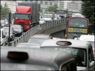 伦敦城市交通拥堵严重