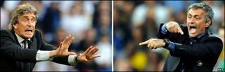 Pellegrini - Mourinho.