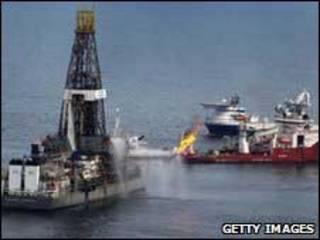 Poço de gás natural na costa da Louisiana