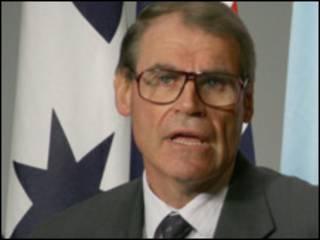 جان فولکنر، وزیر دفاع استرالیا (عکس از سایت وزارت دفاع استرالیا)