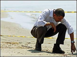 Obama na duba barnar tsiyayar mai