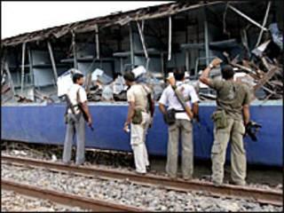 ٹرین حادثے کی ایک تصویر