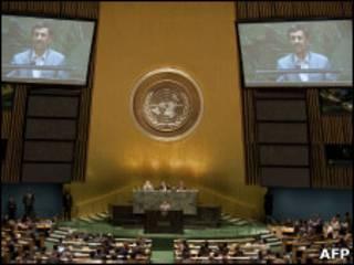 Президент Ирана на конференции в ООН, 3 мая 2010 года