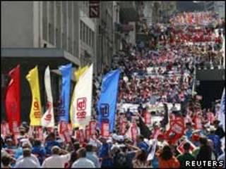 Protesto em Lisboa