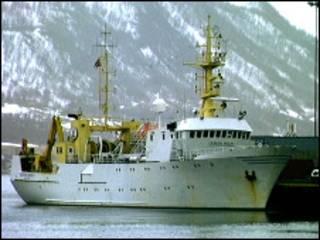 Траулер в норвежских водах