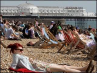 英国海滨浴场