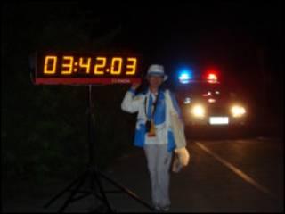 我在马拉松赛场做志愿者