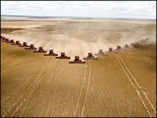 Colheitadeiras no Mato Grosso