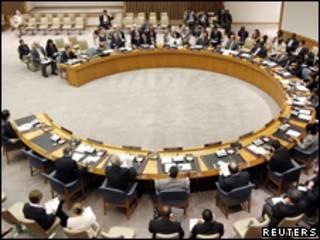 Consejo de seguridad de Naciones Unidas en reunión
