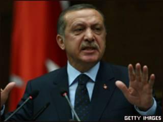 Primer ministro Turco Recep Erdoyan