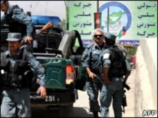 پلیس افغانستان در محل برگزاری نشست مشورتی صلح