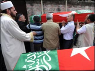 Похорон турецьких активістів з флотилії миру