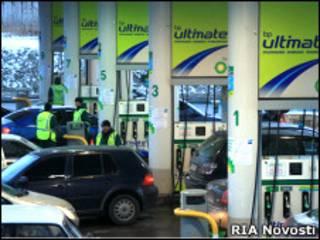 Заправочная станция BP в России