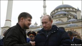Владимир Путин и Рамзан Кадыров в Грозном