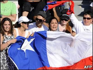 طرفداران تیم ملی شیلی
