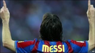 Lionel Messi, jugador del Barcelona y Argentina