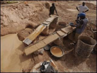 Uchimbaji wa dhahabu, Nigeria