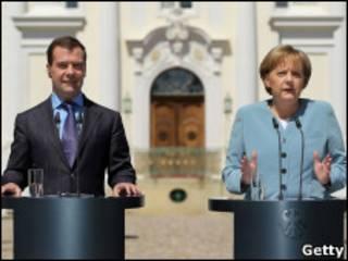 Медведев, Меркель