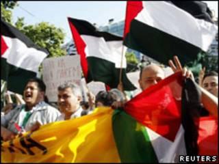 مظاهرات ضد الحصار على غزة - ارشيف