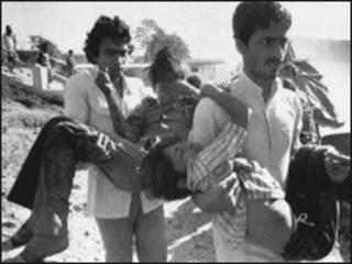 Víctimas de la catástrofe de Bhopal