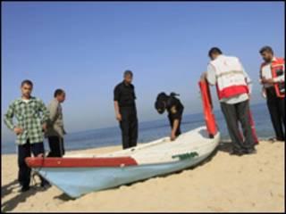 صيادون فلسطينيون على شاطىء غزة