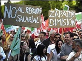 تظاهرات در مادرید