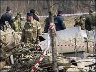 Lokasi kecelakaan pesawat Polandia