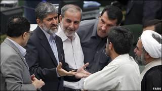 علی مطهری و نمایندگان مجلس ایران