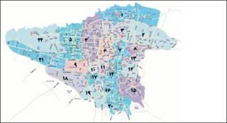 نقشه مناطق تهران - کتاب اول