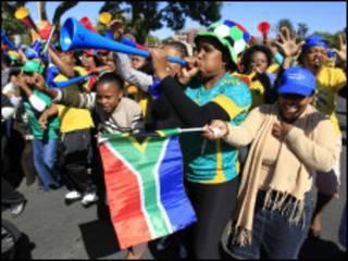 مشجعو جنوب أفريقيا
