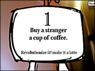 Tarjeta #1: compre café a un extraño