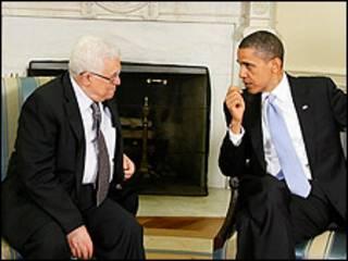 Shugaba Mahmoud Abbas tare da Shugaba Barack Obama