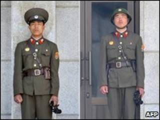 Soldados de Corea del Norte el 2 de junio de 2010