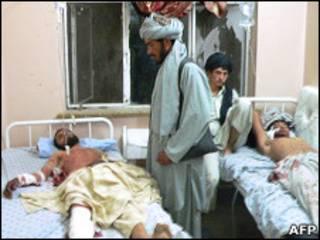 Раненые на свадьбе в Кандагаре