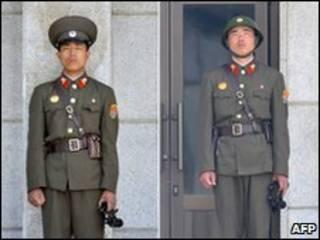 Lính gác Bắc Hàn tại chốt biên giới