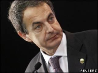 El presidente del gobierno de España, José Luis Rodríguez Zapatero