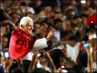 Папа Римский во время выступления в Ватикане