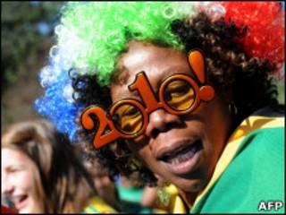 Болельщик сборной ЮАР по футболу