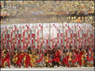 Cerimônia de abertura. Crédito: Reuters