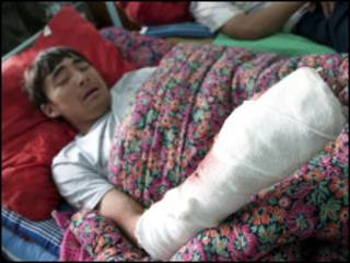 احد ضحايا العنف الاثني في قرغيزستان